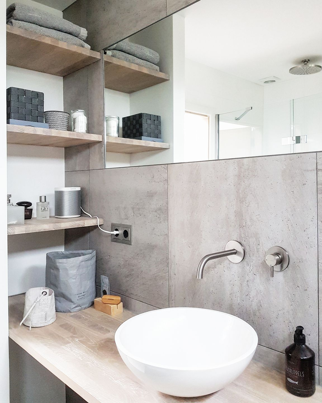 Natuursteen wandpanelen voor de badkamer   badkamer ideeën ...