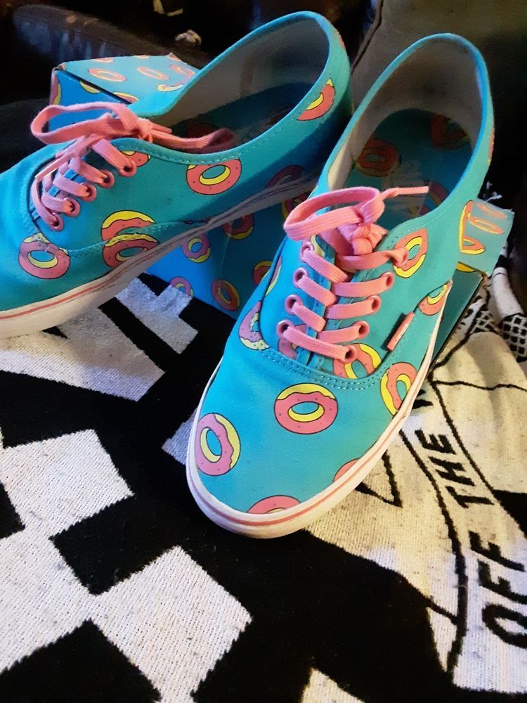ecbf38bd5c14 VANS X ODD FUTURE Authentic SZ 9.5 SCUBA BLUE DONUT WITH BOX PINK LACE   fashion  clothing  shoes  accessories  mensshoes  athleticshoes (ebay link)