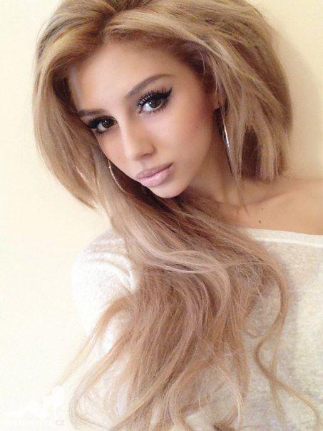 make up und haare langhaar frisuren pinterest haar