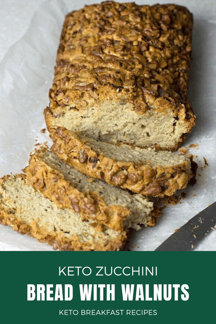 Photo of Keto Zucchini Bread with Walnuts KETO BREAKFAST RECIPES I normally don't make ma…