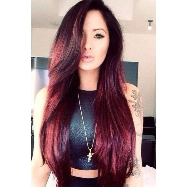 Red Hair Color 2015 Latest Hairstyles ❤ liked on Polyvore featuring beauty products, haircare and hairstyles