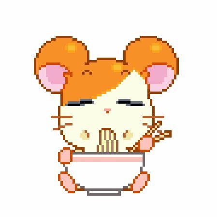 I Love Hamtaro 3 Hamtaro Pixel Art Kawaii Transparent