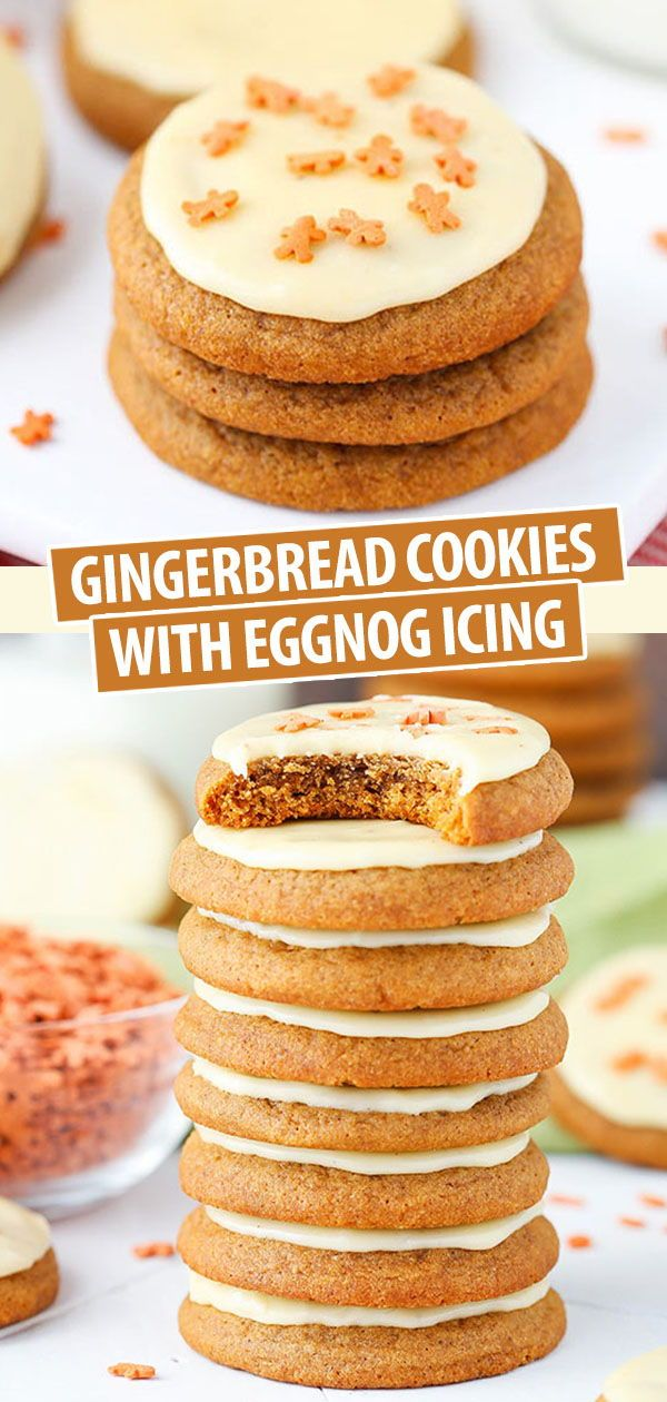 Gingerbread Cookies with Eggnong Icing | Easy Christmas Cookies Recipe