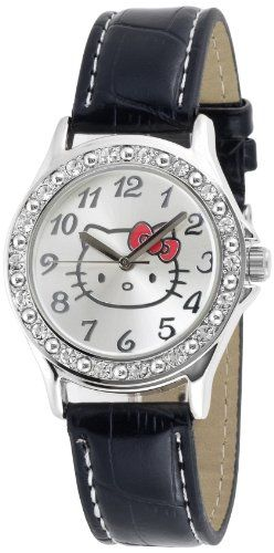 1ca02bc3d Hello Kitty Women`s HK1745 Analogue Black Strap Watch $21.07 (save $13.93)  + Free Shipping