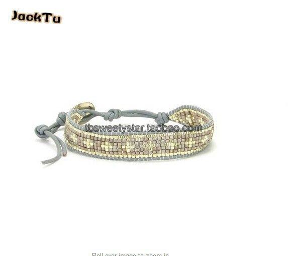 2017 summer silver cross grey seed beads friendship bracelet christmas gift