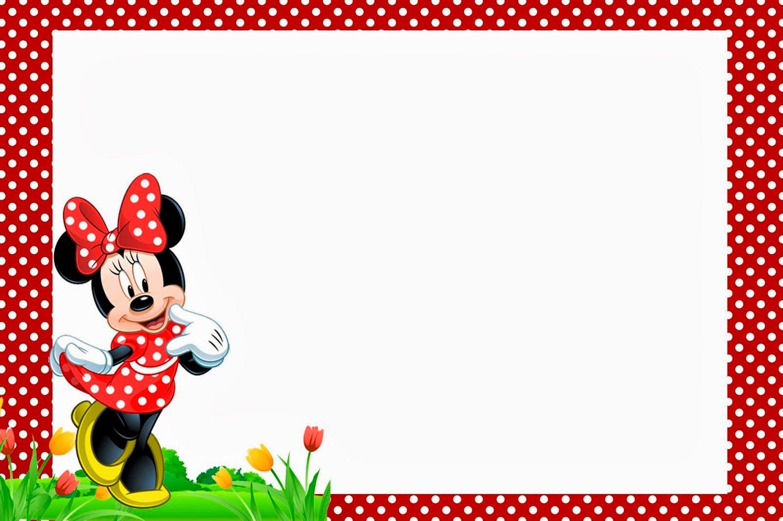 Imprimibles Gratuitos E Invitaciones Para Fiestas De Minnie