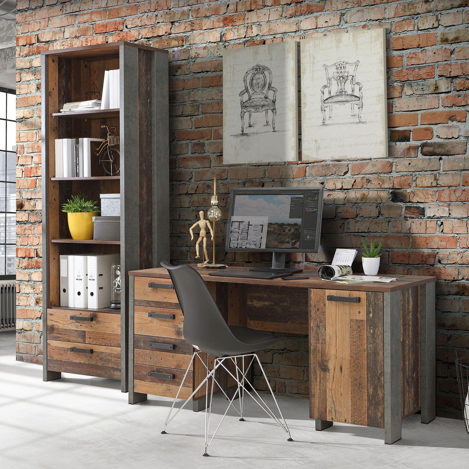 Schau Mal Was Ich Bei Roller Gefunden Habe Schreibtisch Old Wood Vintage Betonoptik 155 Cm In 2020 Schreibtisch Haus Deko Betonoptik