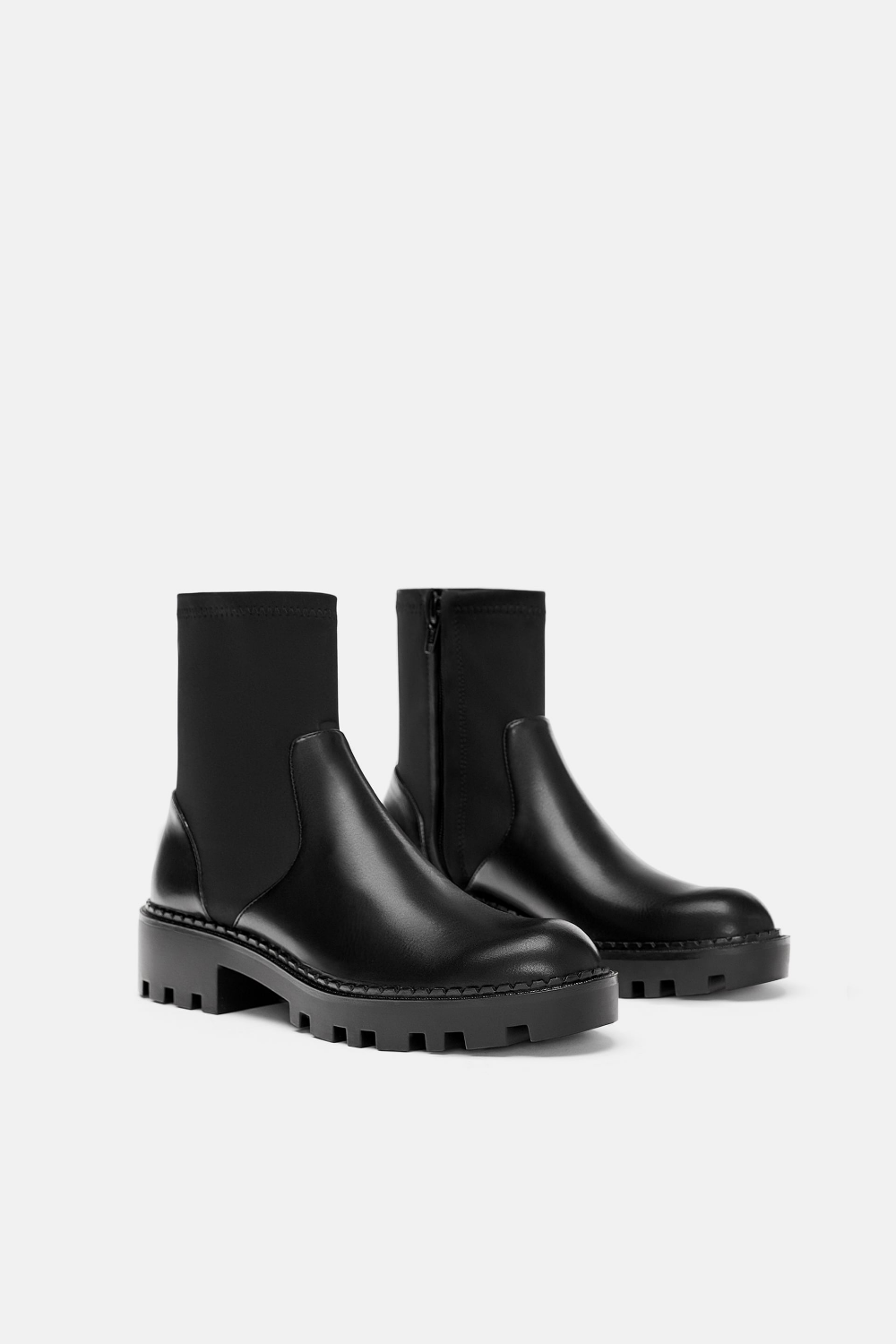 ELASTICATED FLAT ANKLE BOOTS - View all