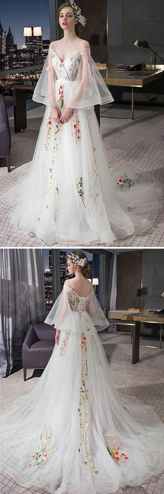 Delicate and feminine tulle wedding dress u Follow Maude and