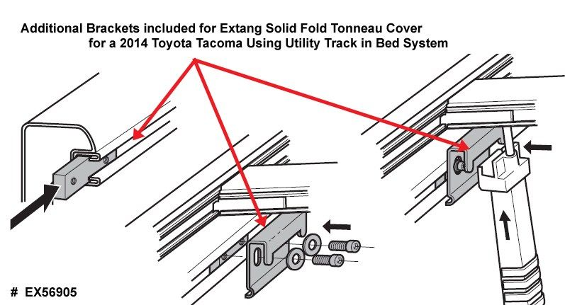 Extang Solid Fold Tonneau Cover Bracket Install For Toyota Tacoma Utility Track System Tonneau Cover Toyota Tacoma 2014 Toyota Tacoma