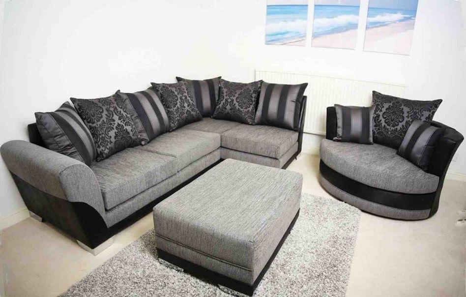 Brand New Stylish Modern Vermont Corner Swivel Cuddle Chair Sofa