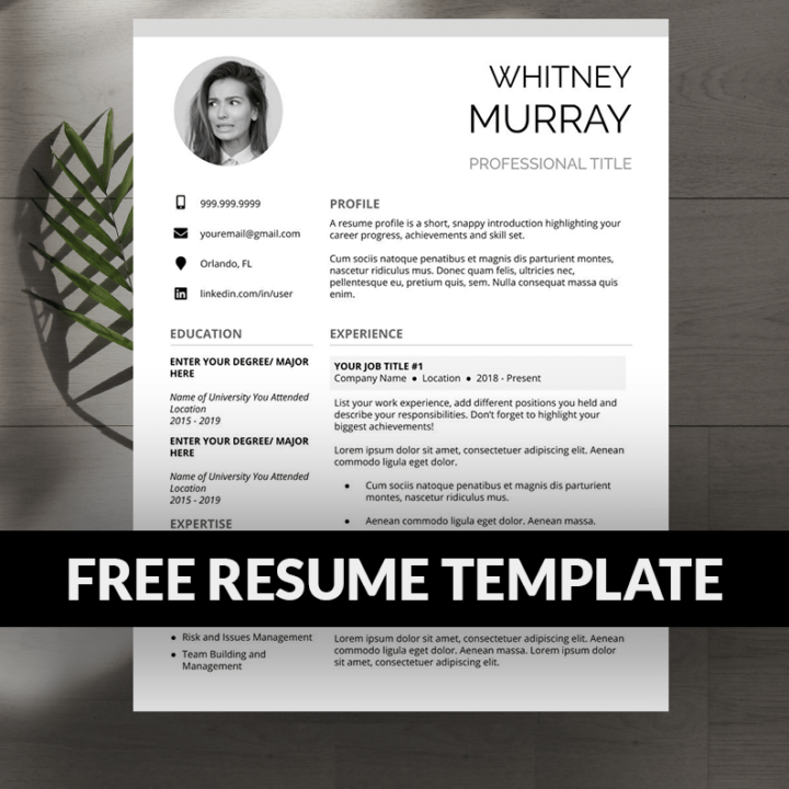 Download Resume Template for Free and Edit Right From Your