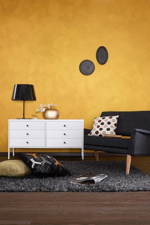 Wandgestaltung In Metall Optik Schoner Wohnen Farbe Schoner Wohnen Wohnen Schoner Wohnen Schoner Wohnen Wandfarbe
