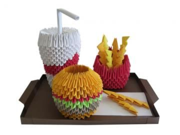 3D Origami Fast Food Meal
