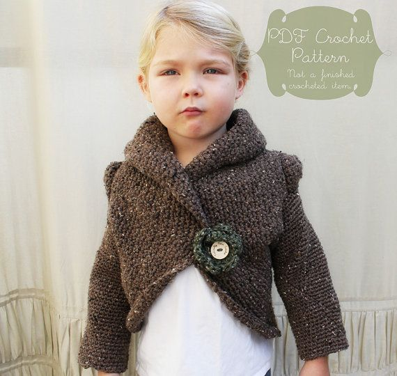 Crochet Pattern The Rowan Sweater Child Sm Med Lg And Adult Sm