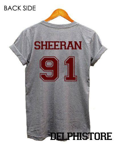 ed sheeran shirt t-shirt sport grey printed unisex by DelphiStore