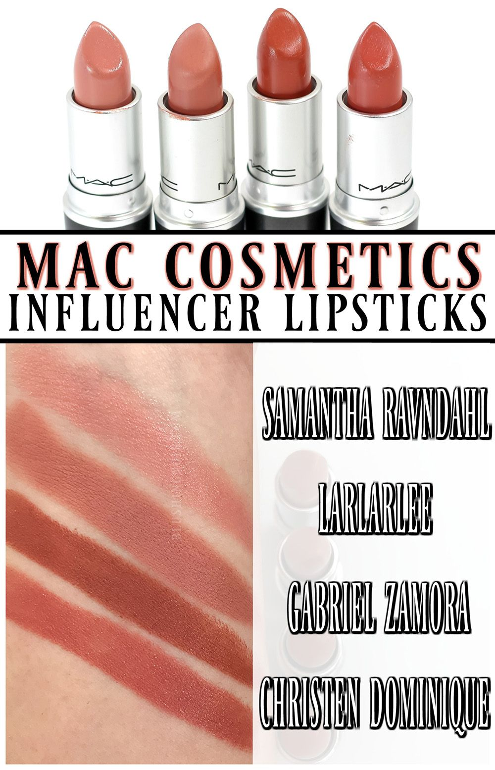 MAC x Christen Dominique Lipstick Review + Swatches