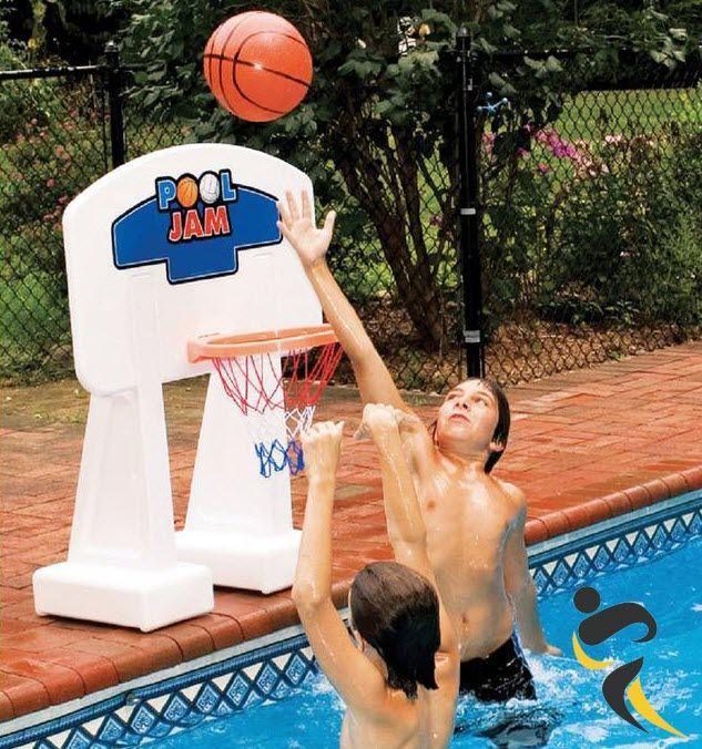 Swimline 9189 Inground Pool Jam Basketball Nba