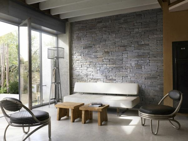 Wall Panels Of Stone Look Floor Tiles Bath Tub Accent Walls In Living Room Wall Paneling Rustic Living Room