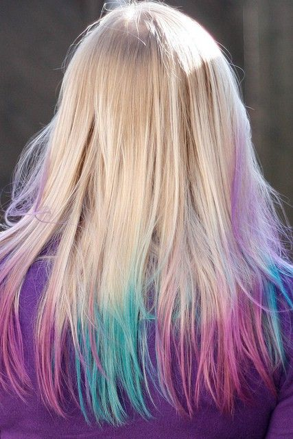 Blonde Pink And Blue Hair Jpg 427 640 Pixels Blue Hair Blonde Hair Color Hair Color Purple