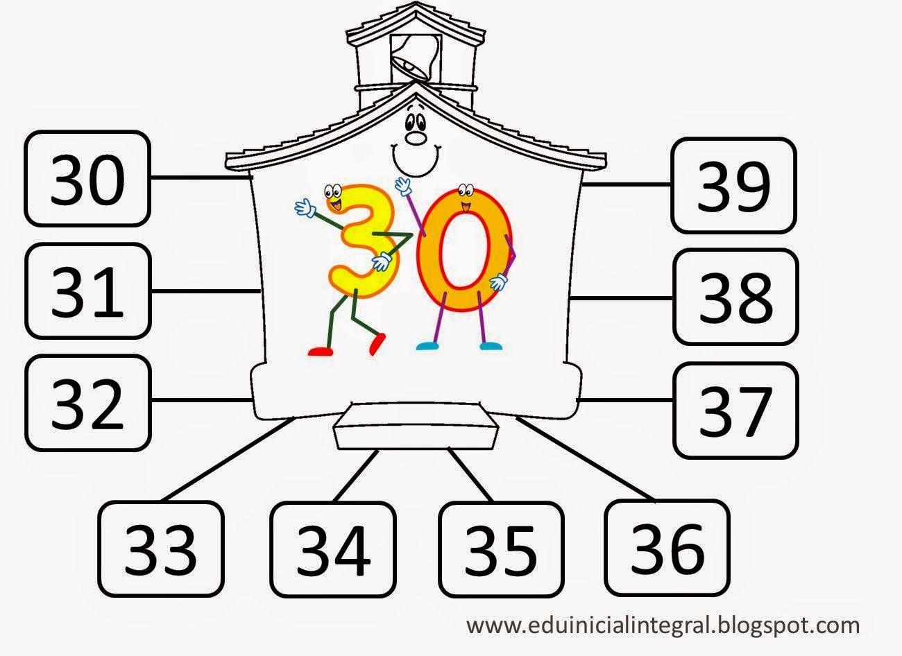 Numeros Del 20 Al 30 Para Colorear E Imprimir Buscar Con Google