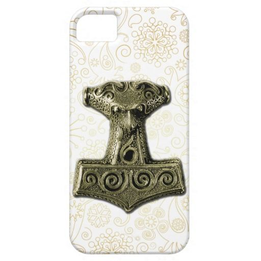 Mjölnir in Green - iPhone Case 1 #pagan, #thor #mjolnir #thorshammer #gold #heathen #asatru #fornsidr #odinism #wotanism #theodism