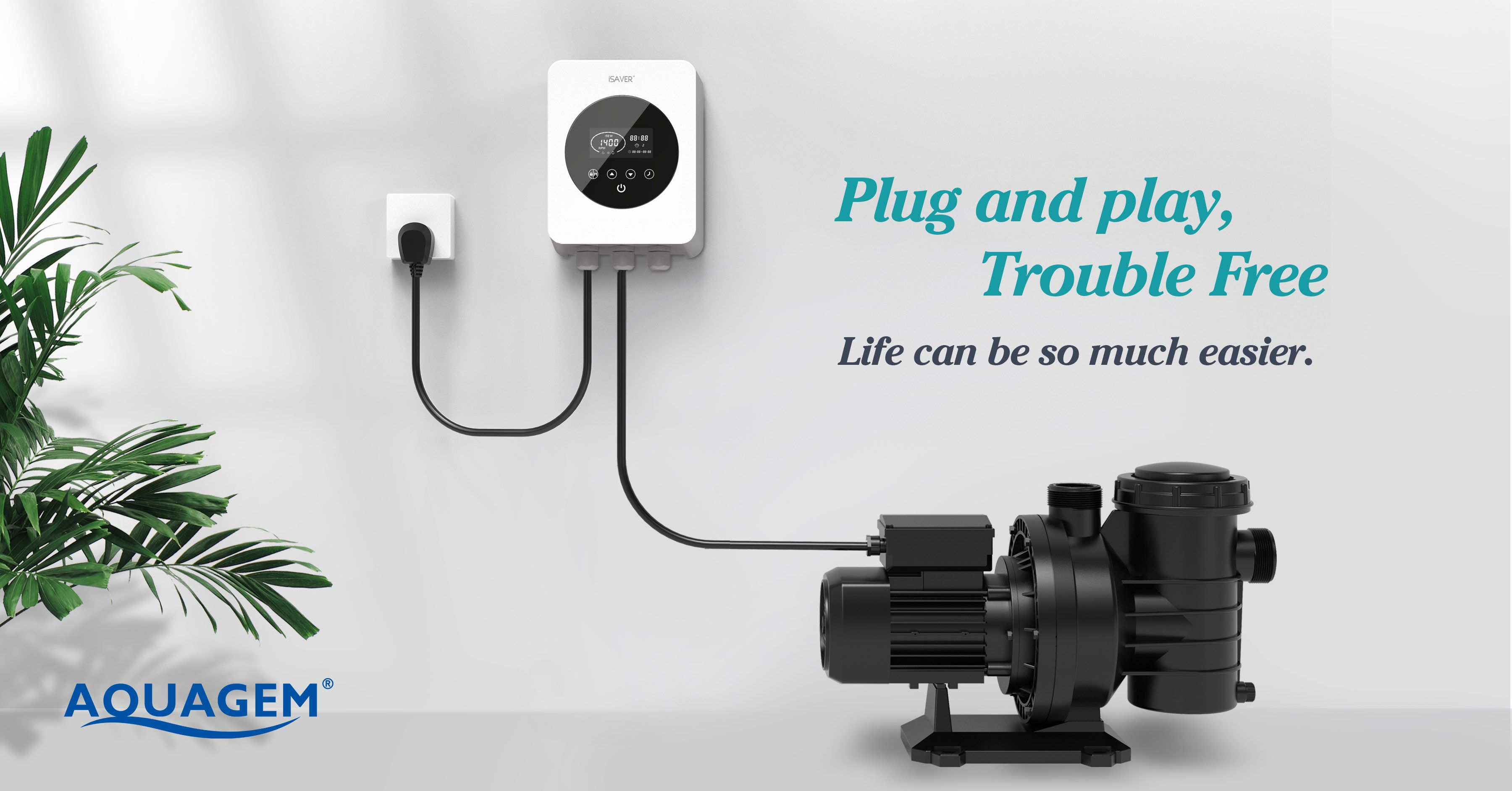 Too Much Hassle For Installation Now You Can Do It Yourself With A Plug And Play Model Isaver Aquagem Isaverplus Frequencyinverter Swimmingpool