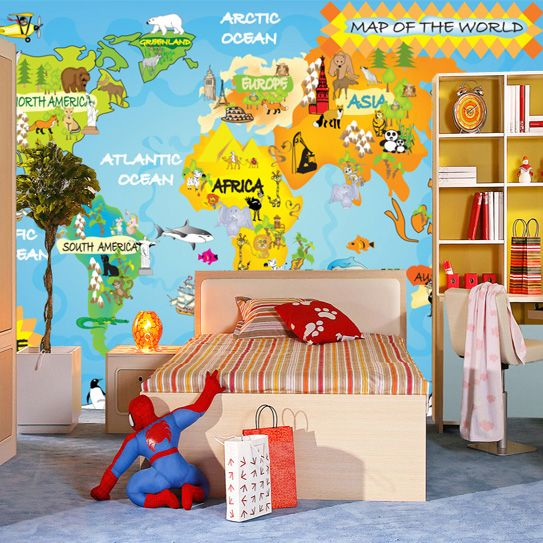 Modern wallpaper kids bedroom background wallpaper cartoon eco modern wallpaper kids bedroom background wallpaper cartoon eco friendly wall paper map of the world gumiabroncs Choice Image