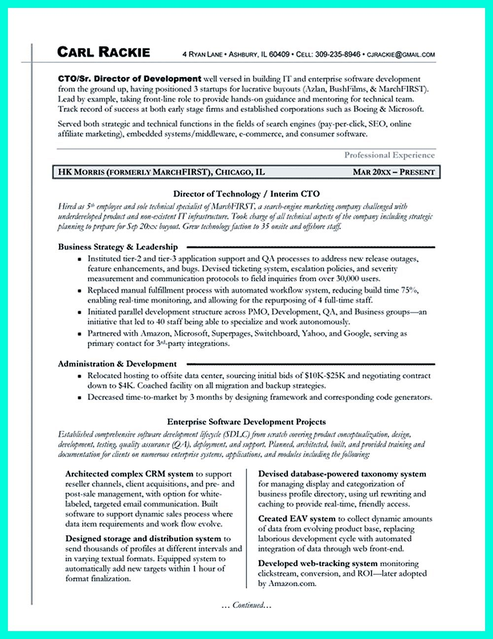 cto resume or chief technical officer resume can be considered as resume for senior level technology resume examples - Cto Resume Examples