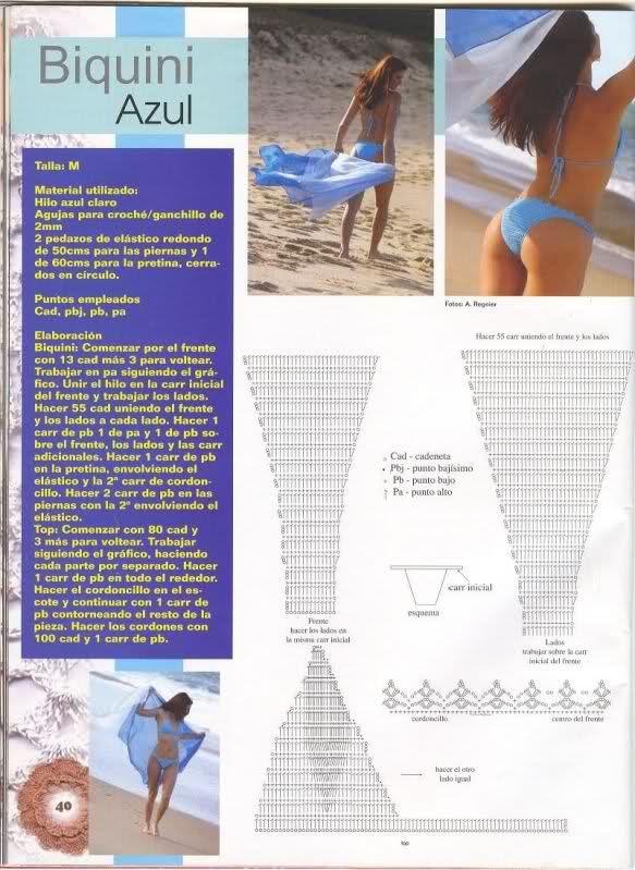 TRICO y CROCHET-madona-mía: Patrones bikinis a ganchillo ( crochet ...