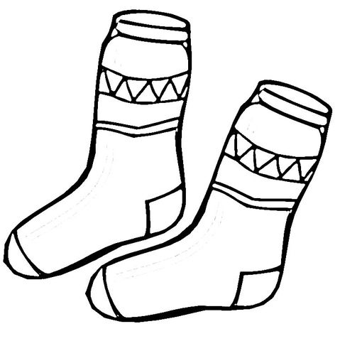 Socks Coloring Page Printable Kids Shoes Sale Coloring Pages