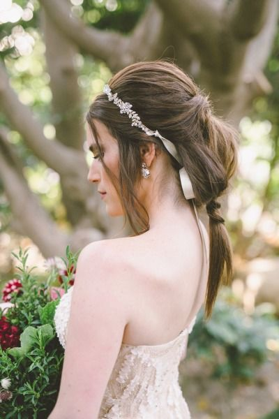 Fancy ponytail: http://www.stylemepretty.com/little-black-book-blog/2015/02/12/garden-fairytale-valentine-wedding-inspiration/ | Photography: Anna Delores - http://www.annadelores.com/
