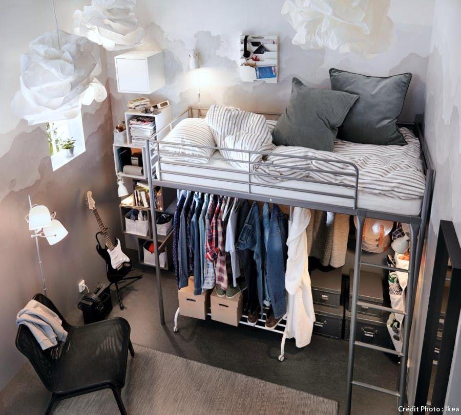 Lit Mezzanine Dressing Dressing Chambre Ado Chambre Ado Lit Decoration Interieur Appartement