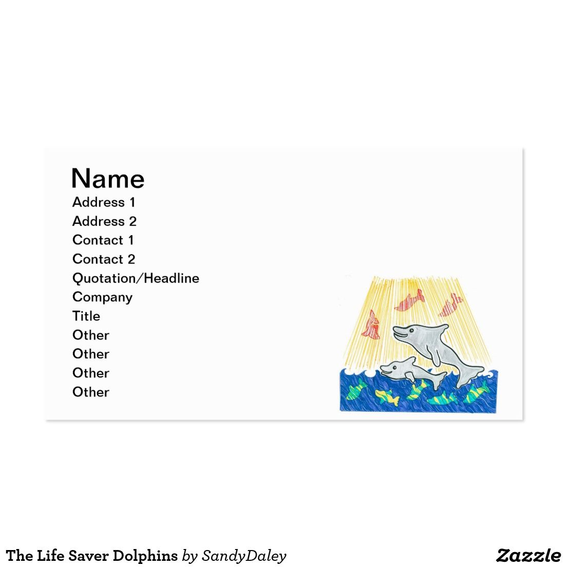 The Life Saver Dolphins Business Card | Lifesaver Dolphins ...