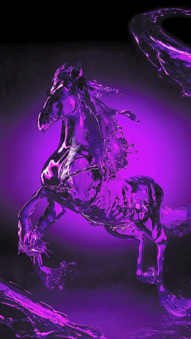 Purple water horse.