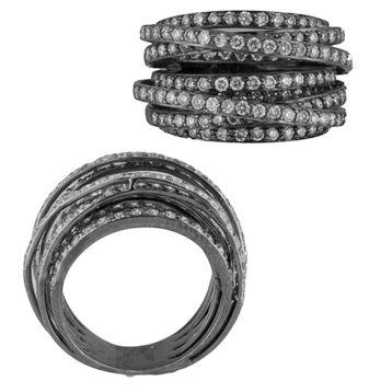 black+gold+black+diamond+rings   results 18kt black oxidized gold diamond ring 2 56ct total diamond ...