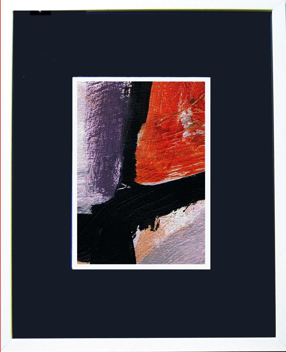 Preciosa lámina con marco y paspartú | Láminas arte abstracto ...
