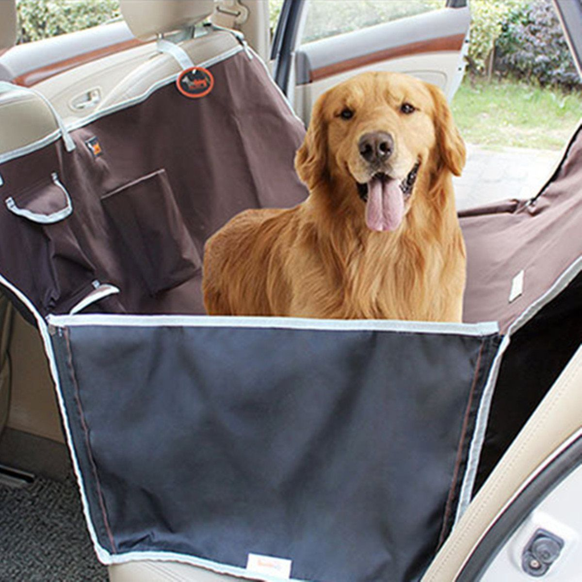 single black seat cover front dog all trucks outad mats itm foldable nonslip suvs pet hammock cars waterproof car for