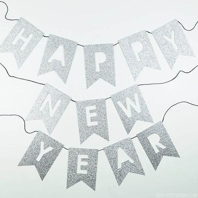 make this glittery happy new year banner for your newhellip