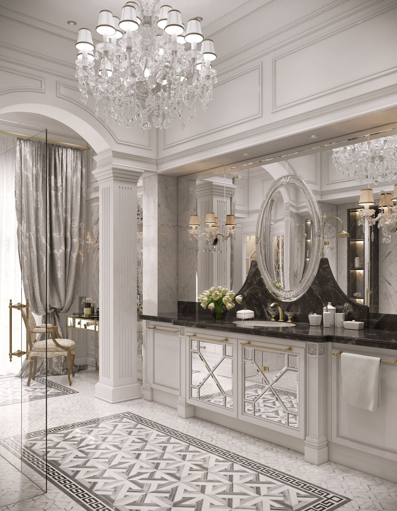Free fabulous interior design di lusso interni casa bagno - Decorazioni interni casa ...
