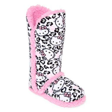 14954fa9a Hello Kitty® Tall Boot Slippers found at @JCPenney | Shoes | Hello ...