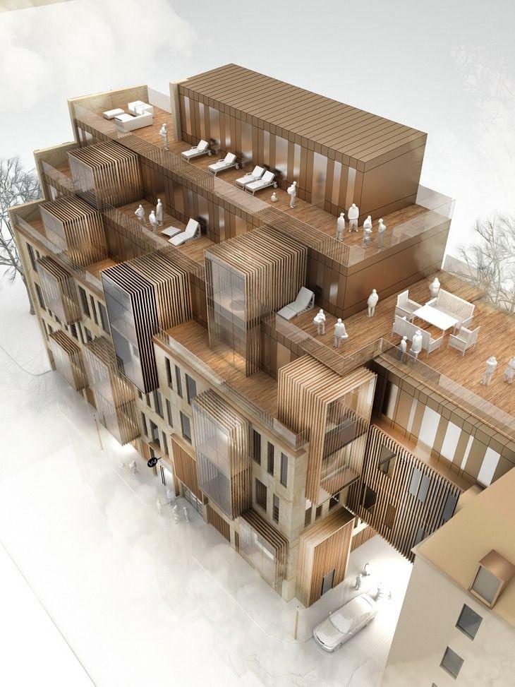New Apt Bldg In UNESCO World Heritage Site   United Riga Architects    ConceptMODEL