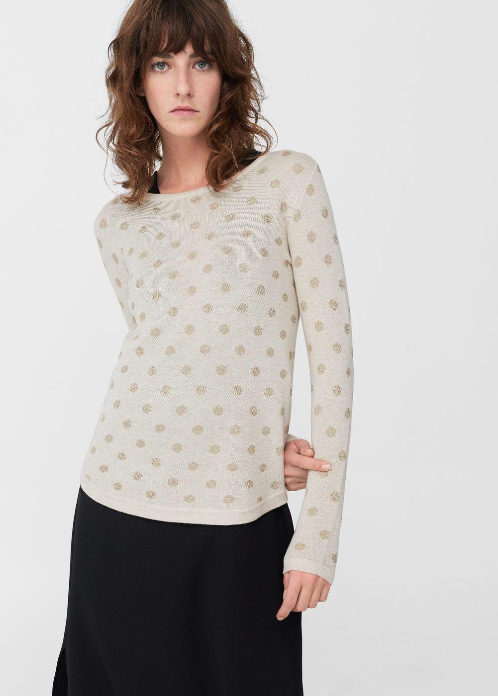 6045696acc9 Càrdigans i jerseis  woman  fashion  mango  barcelona  white  gold ...