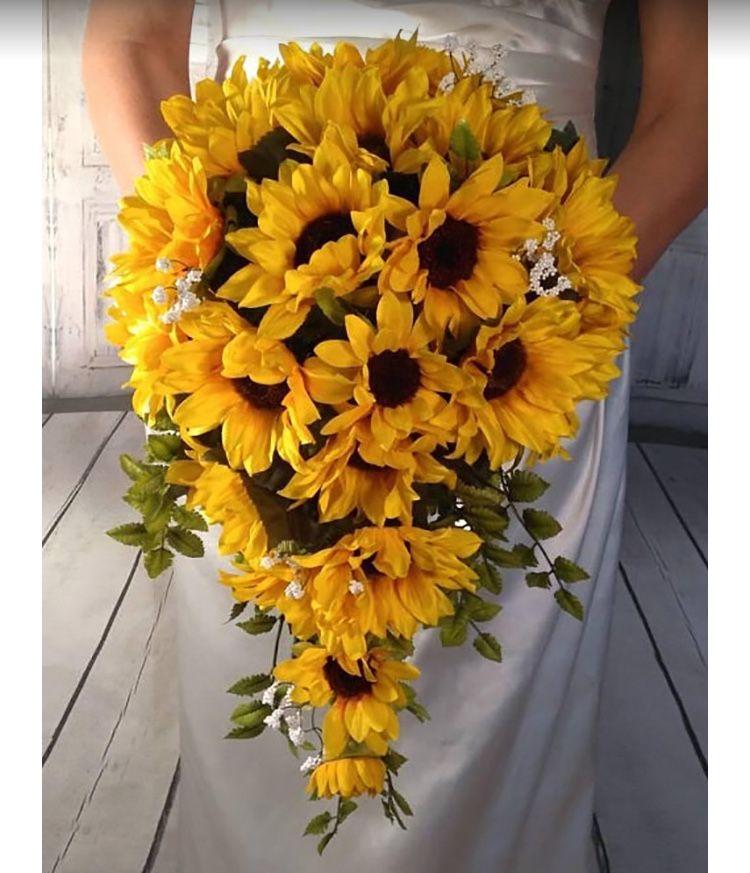 Sunflower wedding bouquet by Faith Ann on Wedding flowers