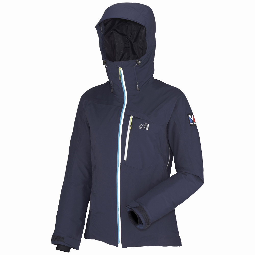 "With its active ""alpine"" fit, this Trilogy Gore-Tex Pro jacket is designed for women and built to deliver protection in even the foulest weather. Gore-Tex Pro is a reference material in weather protection: The waterproof breathable fabric protects you from wind, rain and snow. This 3-layer fabric is the most breathable of the Gore-Tex membranes and its outer face has enhanced durability while its inner face is lighter. This jacket is a complete barrier in challenging environments, with fully…"