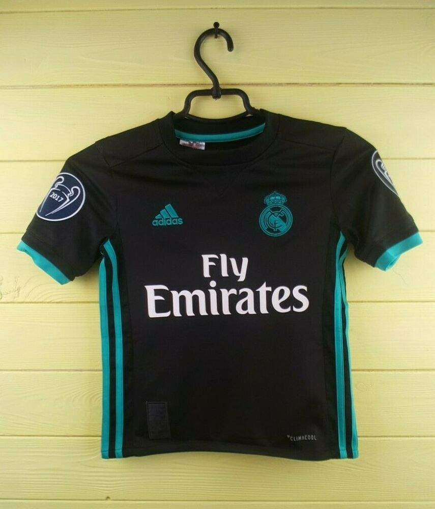 767bb38e6 Advertisement(eBay) 5+ 5 Real Madrid jersey kids 7-8 years 2018 away ...