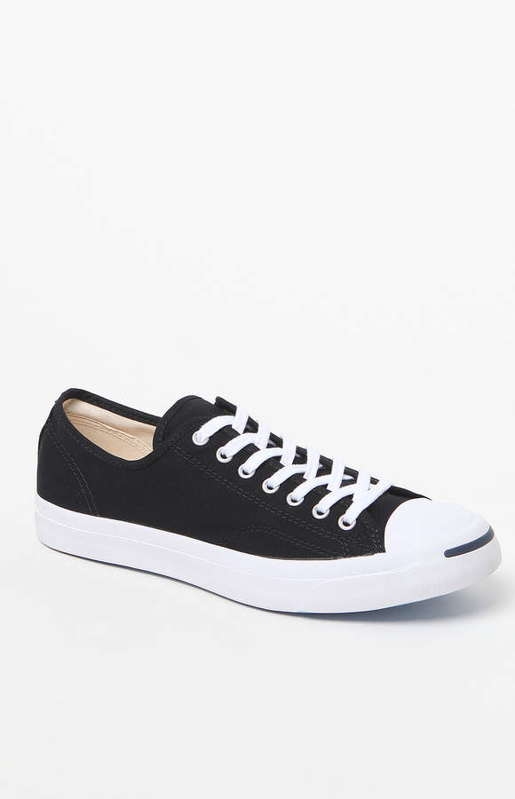 83d30c40bfed Converse Jack Purcell Canvas Black   White Shoes
