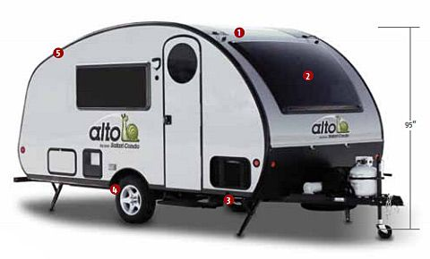 Alto Travel Trailerssafari Condo Fseries Fixed Roof  Travel Magnificent Small Camping Trailers With Bathrooms Decorating Design