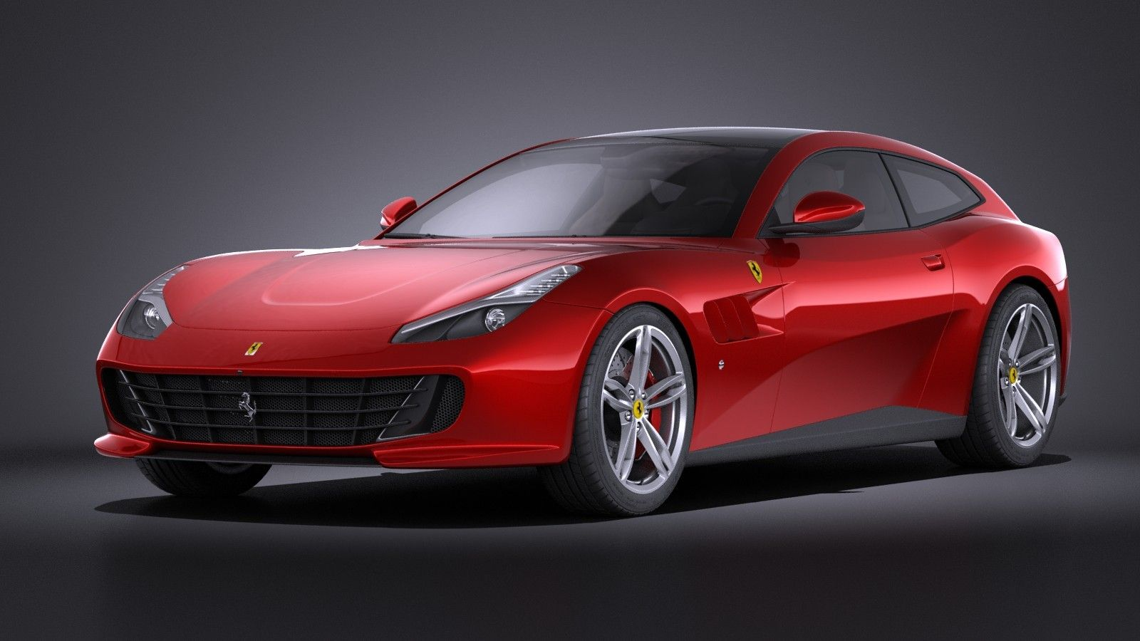 3D Model Of 2017 Ferrari Lusso - 3D Model | 3D-Modeling ...