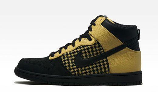 premium selection 3c5b6 ecc25 Nike Dunk High Premium   Houndstooth   Black Gold